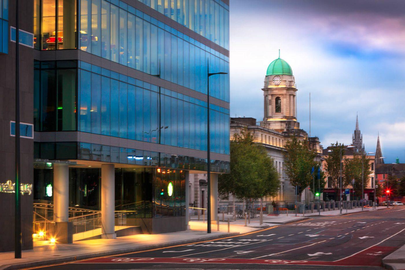 Jim McCarthy Photographer Cork - Photography Prints - Albert Quay & City Hall Cork #4384